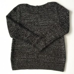 Croft & Borrow Knit Boatneck Black & White Sweater